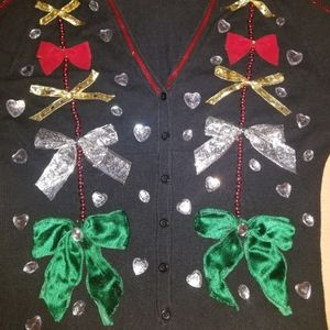 Ugly Christmas Sweater BOWS Mossimo XL XXL